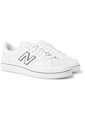 Comme des Garçons HOMME - New Balance Pro Court Leather and Mesh Sneakers - Men - White