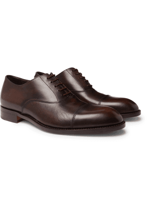 PAUL SMITH - Kenning Burnished-Leather Oxford Shoes - Men - Brown