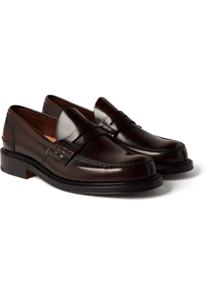 CHURCH'S - Willenhall Bookbinder Fumè Leather Penny Loafers - Men - Burgundy