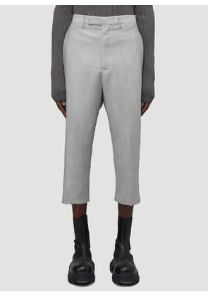 Rick Owens Tailored Flat Cargo Pants in Grey