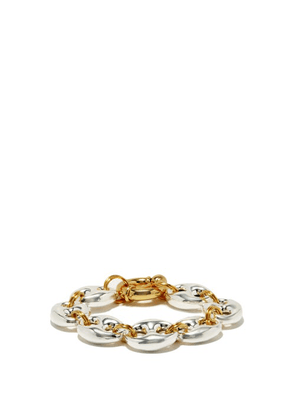 Timeless Pearly - Coffee Bean 24kt Gold-plated Bracelet - Womens - Silver Gold