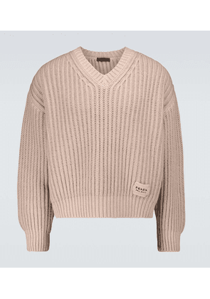 Cashmere and wool V-neck sweater