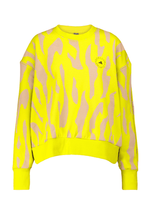 Printed cotton-blend sweatshirt