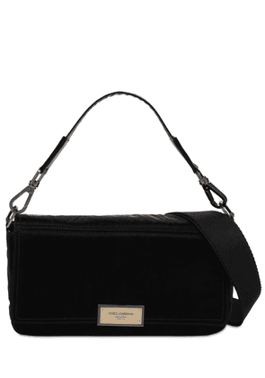 Logo Plaque Nylon Shoulder Bag
