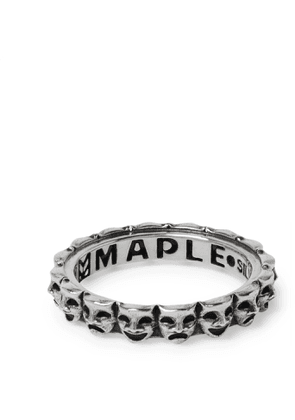 MAPLE - Laugh Now Cry Later Sterling Silver Ring - Men - Silver - M