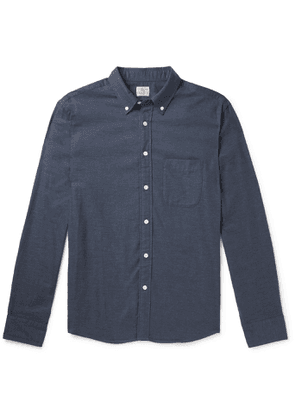 FAHERTY - Slim-Fit Button-Down Collar Stretch Cotton and Lyocell-Blend Shirt - Men - Blue - XS