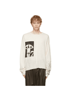 Enfants Riches Deprimes Off-White Untitled Artist and Model Long Sleeve T-Shirt