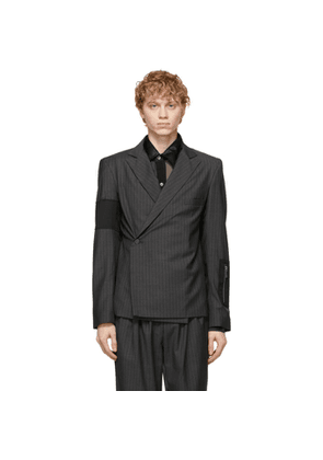 Enfants Riches Deprimes Grey Wool Pinstripe Oedipus Blazer