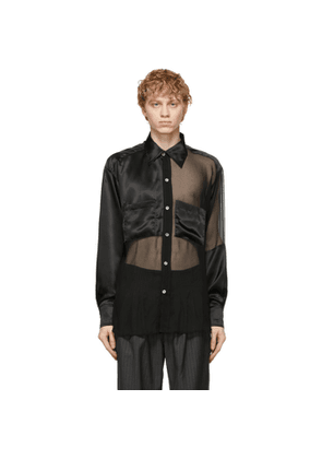 Enfants Riches Deprimes Black Silk Assemblage Shirt