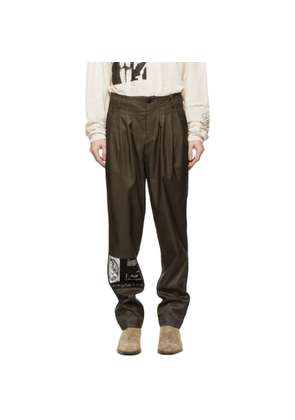 Enfants Riches Deprimes Khaki Tumbling Tears Pleated Trousers