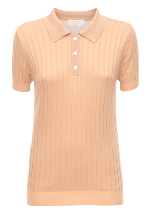 Knit Viscose Blend Polo Shirt