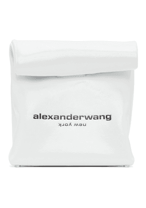 Alexander Wang White Lunch Bag Clutch