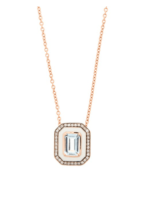 Selim Mouzannar - Mina Diamond, Aquamarine & 18kt Rose-gold Necklace - Womens - Blue