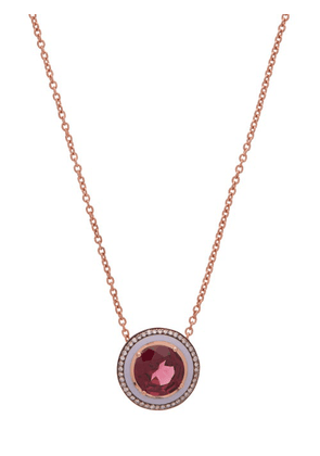 Selim Mouzannar - Diamond, Rhodolite & 18kt Rose-gold Necklace - Womens - Rose Gold
