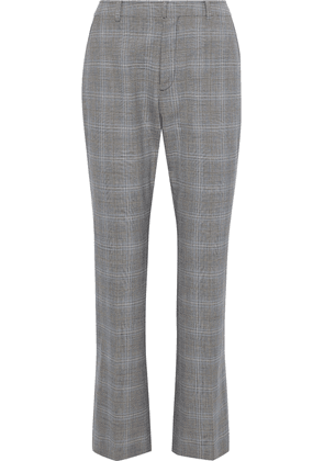 Adeam Prince Of Wales Checked Woven Bootcut Pants Woman Light gray Size 4