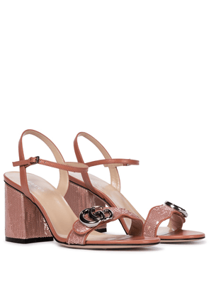 Marmont sequined leather sandals
