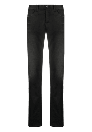 Gucci logo patch straight-leg jeans - Black