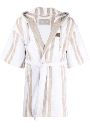Brunello Cucinelli striped short robe - Neutrals