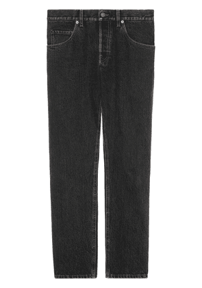 Gucci eco stone washed tapered jeans - Black