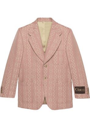 Gucci jacquard-woven single-breasted blazer - Pink