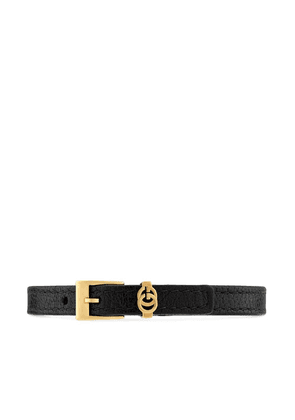 Gucci double G logo bracelet - Black