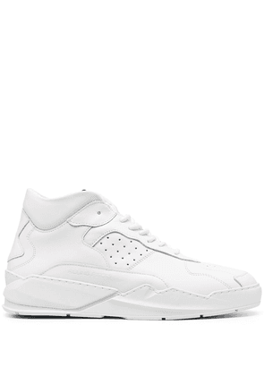 Filling Pieces tonal-panelled hi-top leather trainers - White