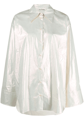 Acne Studios metallic-finish shirt - Neutrals
