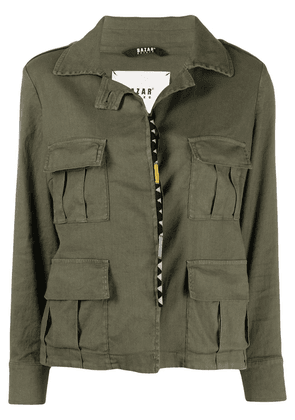 Bazar Deluxe flap-pocket linen-blend jacket - Green