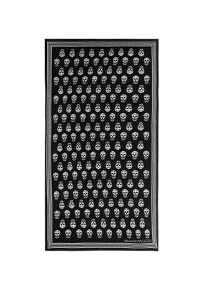 ALEXANDER MCQUEEN - Skull Cotton-Terry Jacquard Beach Towel - Men - Black