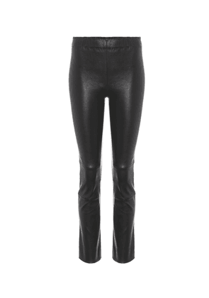 Maria Rosa cropped leather trousers