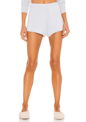 MORGAN LANE Izzy Cashmere Short in Blue. Size S, L.