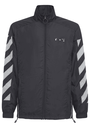 Diag Nylon Zip-up Track Jacket