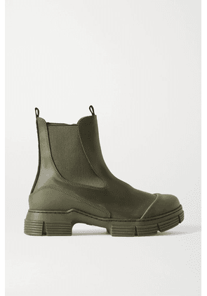 GANNI - Rubber Chelsea Boots - Army green