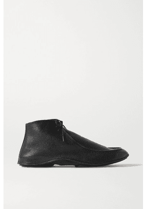 The Row - Car Textured-leather Ankle Boots - Black