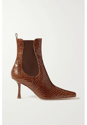A.W.A.K.E. MODE - Chelsea Croc-effect Leather Ankle Boots - Brown