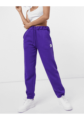 Criminal Damage oversized joggers in purple