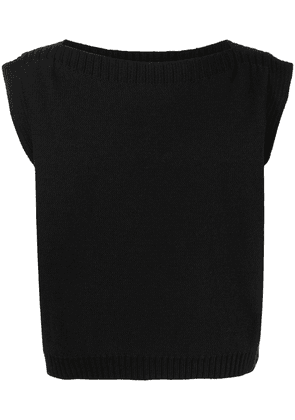 Eckhaus Latta round neck knitted vest - Black