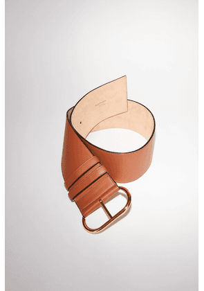 Acne Studios FN-WN-ACCS000086 Almond brown Wide leather belt