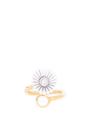 Marni - Crystal And Daisy Ring - Womens - White Gold