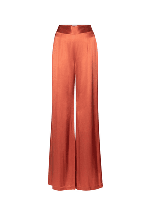 Lido high-rise wide-leg satin pants