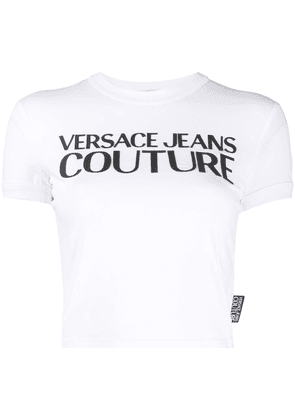 Versace Jeans Couture crew neck printed logo T-shirt - White