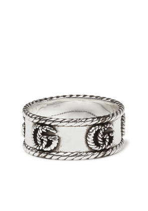 GUCCI - Marmont Burnished Sterling Silver Ring - Men - Silver - 19