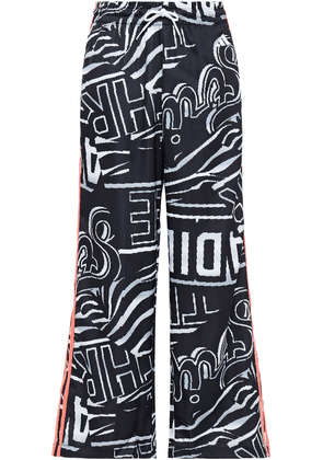 Adidas Printed Shell Track Pants Woman Black Size XL
