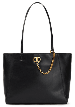 Dkny Chain-trimmed Leather Tote Woman Gold Size --