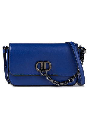 Dkny Chain-trimmed Leather Shoulder Bag Woman Royal blue Size --