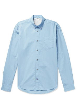 ACNE STUDIOS - Sarkis Button-Down Collar Cotton-Poplin Shirt - Men - Blue