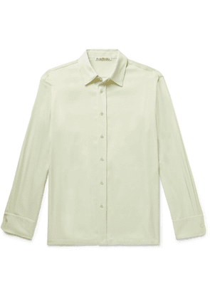 ACNE STUDIOS - Saipen Oversized Matte-Satin Shirt - Men - Neutrals