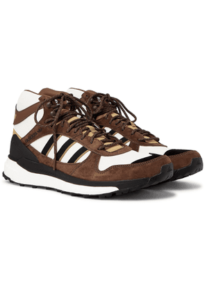 ADIDAS CONSORTIUM - Human Made Marathon Nubuck and Ripstop Sneakers - Men - Brown - 5.5