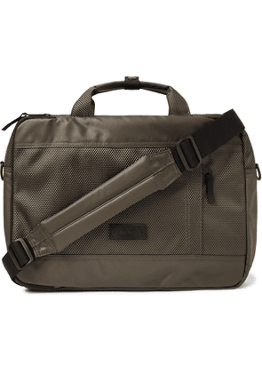 EASTPAK - Acton CNNCT 15 Coated-Canvas Briefcase' - Men - Green