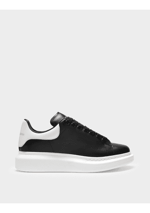 Sneakers Oversize in Black Leather and White Heel